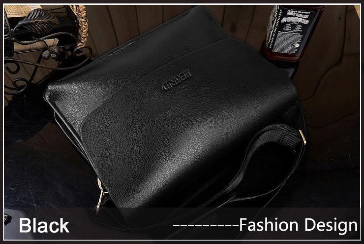 Men Leather Handbag Messenger Shoulder Briefcase 0