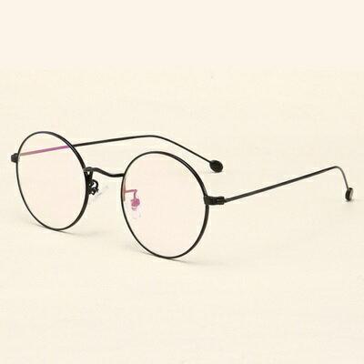 ★眼鏡框圓框眼鏡鏡架-簡約復古文藝百搭男女平光眼鏡6色73oe77【獨家進口】【米蘭精品】 1