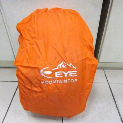 ~雪黛屋~EYE 背包防水雨衣罩行李箱雨衣罩輕便帶好收納可伸縮固定環釦MIT製造品質EYE998M 桔