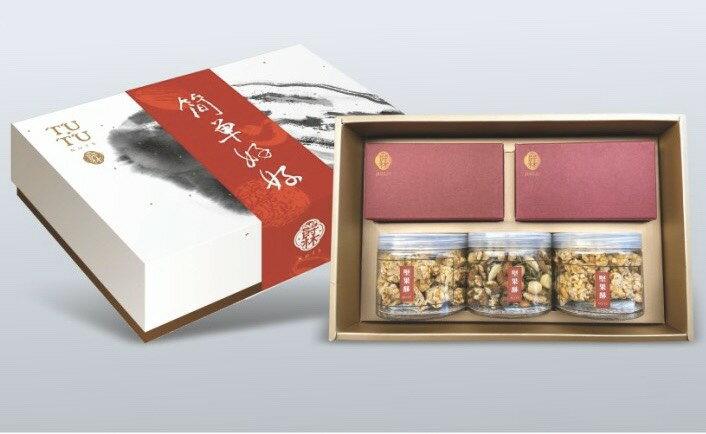 爵林 大團圓禮盒 (杏仁酥150g/花生酥180g/輕烤原味堅果225g/鳳梨酥10入/綜合牛軋糖15入) 端午禮盒