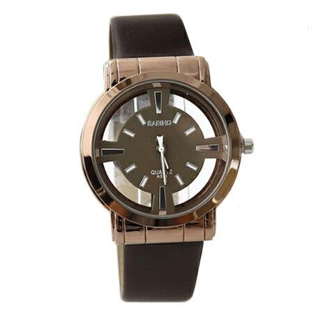 手錶 個性簡約透視鏤空造型腕錶 質感皮革手錶 情侶對錶 禮物 柒彩年代【NE1573】單支價格