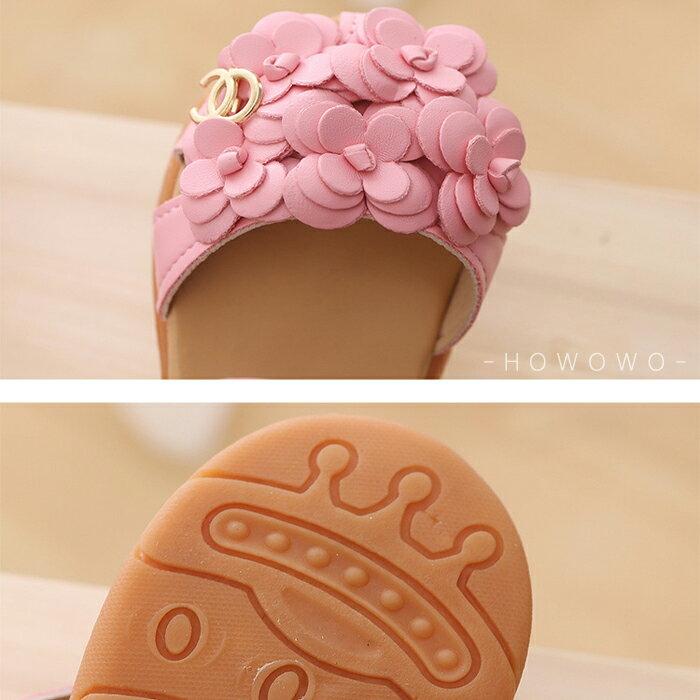女童涼鞋 小花造型涼鞋 透氣止滑 娃娃鞋 公主鞋 休閒女童鞋 (13-15CM) KL69 好娃娃 3