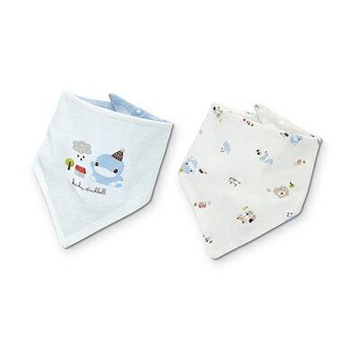 KU KU 酷咕鴨 雙面三角領巾2入~狐狸熊款~悅兒園婦幼 館~