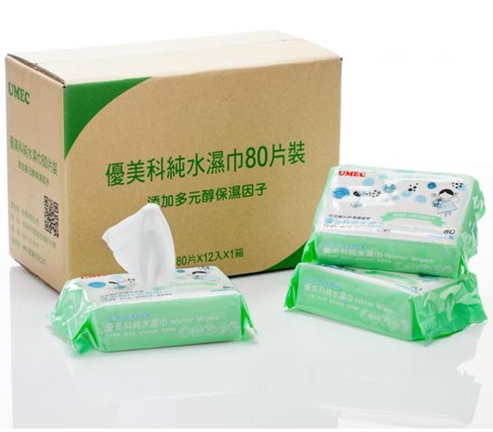 台農 優美科 純水 濕紙巾 80抽 一箱12包入