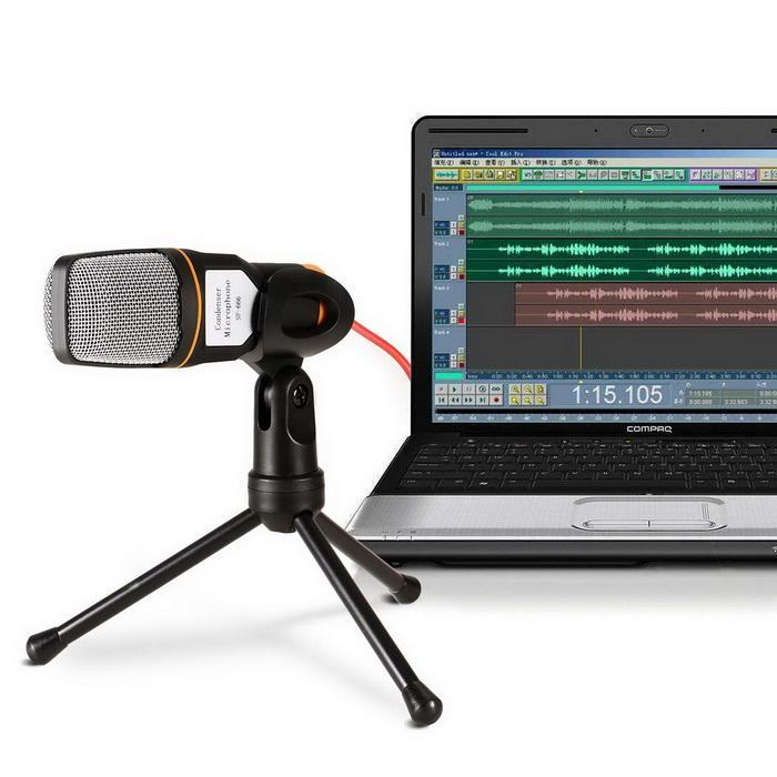 Condenser Microphone With Tripod Stand for PC Laptop Computers Sound Studio Podcast Recording 1