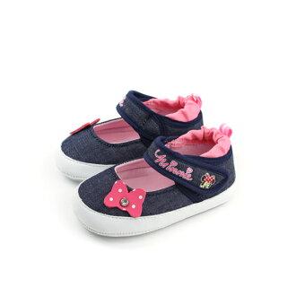Disney Minnie 迪士尼 米妮 布鞋 娃娃鞋 深藍色 丹寧 小童 117210 no084