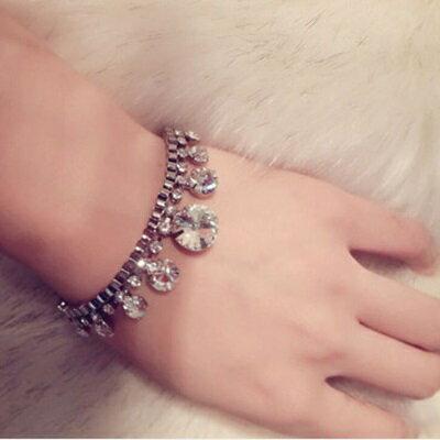 925純銀手鍊鑲鑽手環~知性灑脫高貴典雅生日情人節 女飾品73jq65~ ~~米蘭 ~ ~