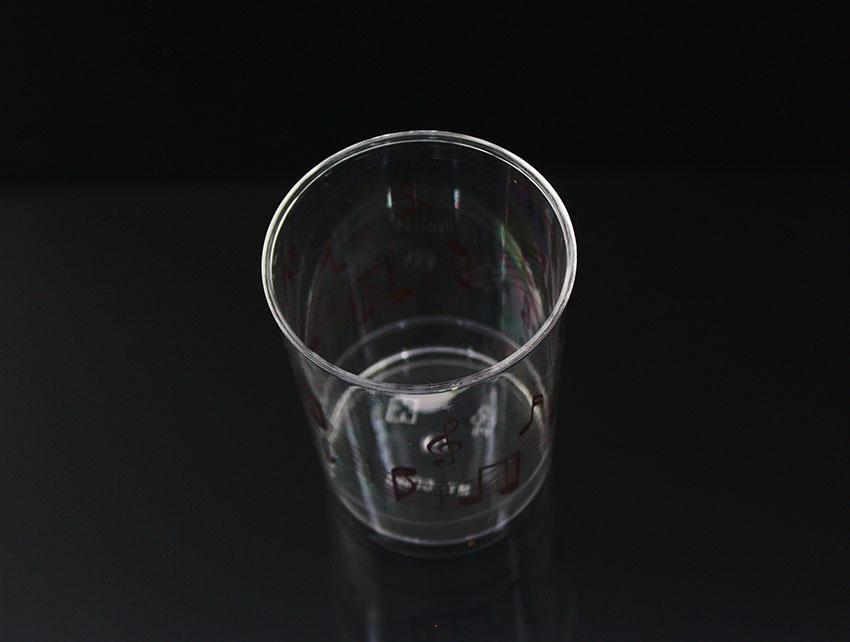 【B6080】慕斯杯、奶酪杯、甜品杯、布丁杯、直圓杯(咖色音符)(20個+透明蓋)