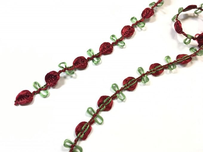 【Crystal Rose緞帶專賣店】10mm 花飾織帶 (9色) 5