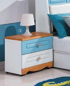 【石川家居】YE-A154-03喬治藍色床頭櫃(單只)(不含其他商品)台北到高雄搭配車趟免運