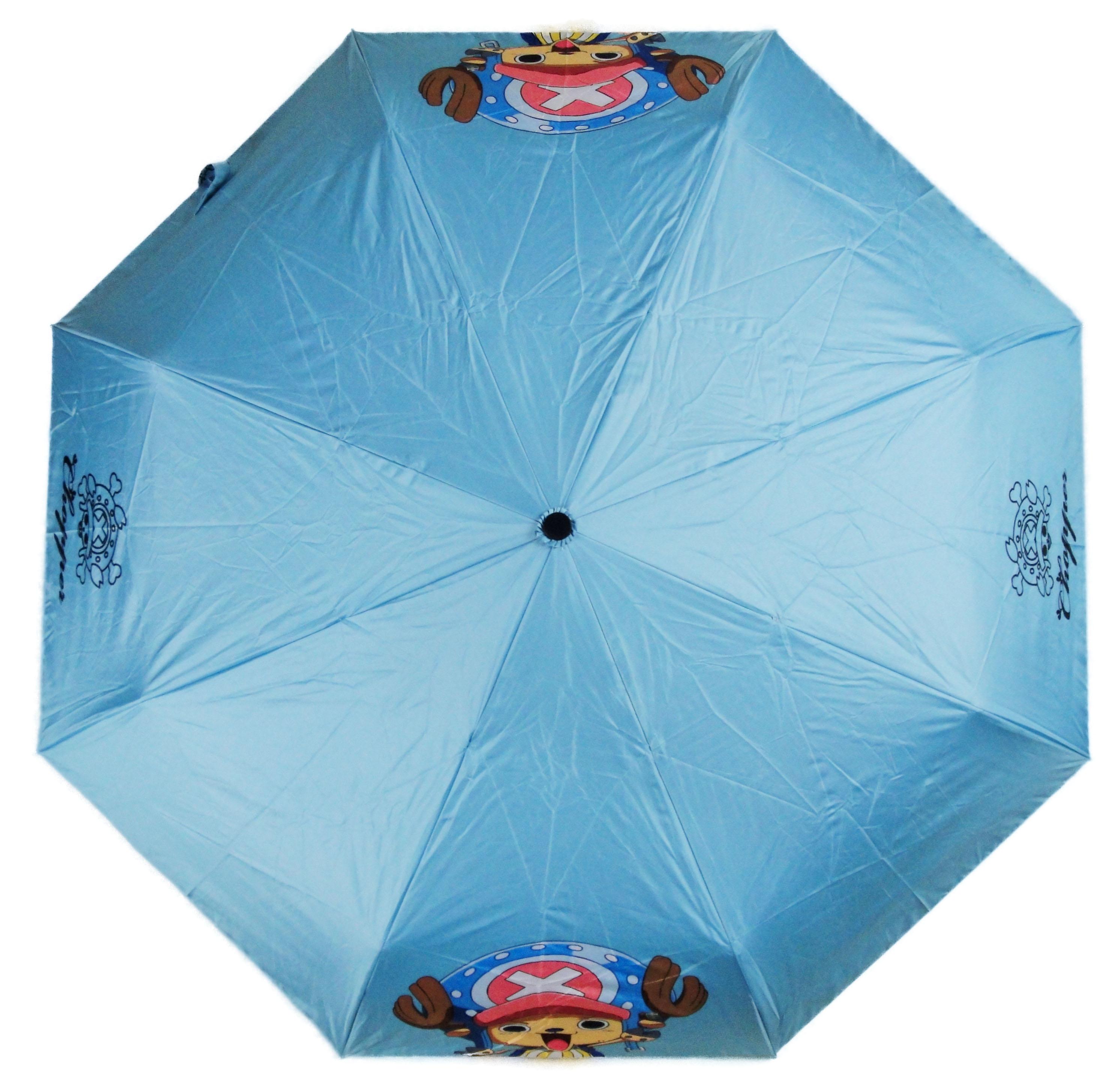 One Piece 航海王 海賊王 喬巴 Chopper 水藍色 自動傘 雨傘 陽傘 晴雨傘
