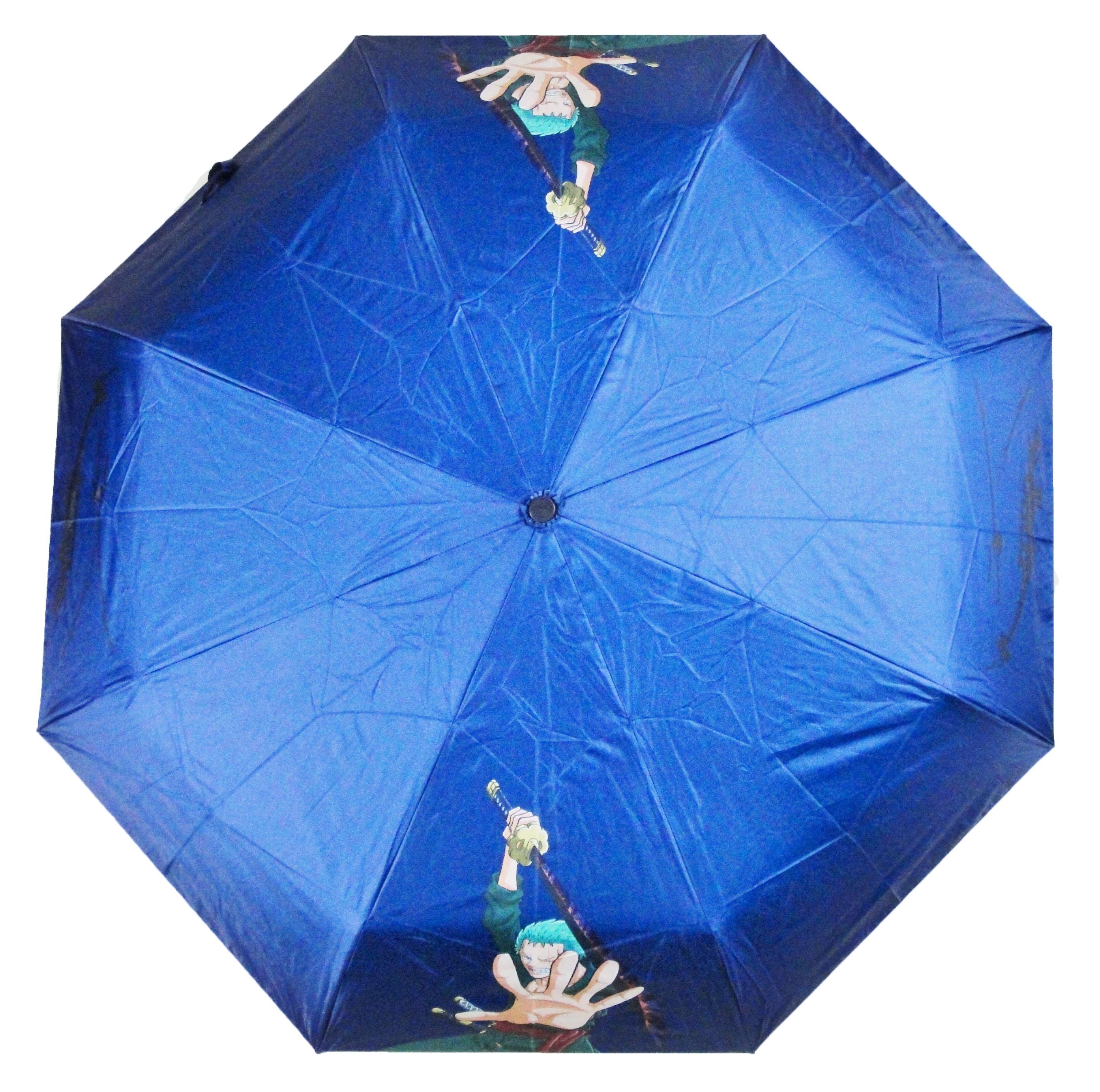 One Piece 航海王 海賊王 索隆 Zero 深藍色 自動傘 雨傘 陽傘 晴雨傘