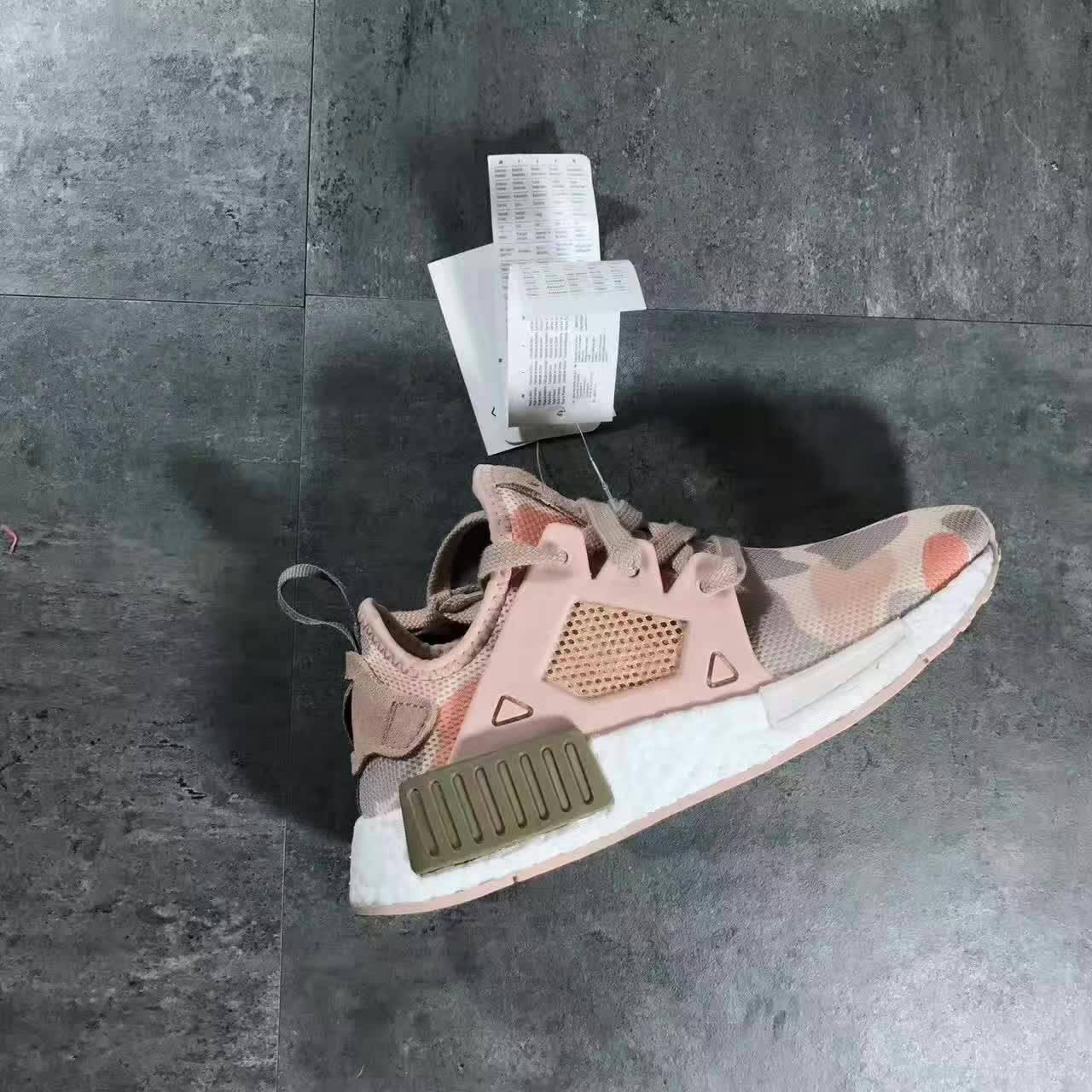 Adidas Nmd Xr1 粉迷彩休閒跑鞋 女款