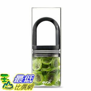 [106美国直购] Prepara PP09-EDLGBK EVAK 密封罐 黑L (单入) 咖啡豆 茶叶适用