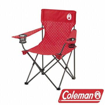 《台南悠活運動家》Coleman 圓點紅渡假休閒椅 CM-26734