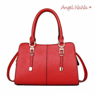 AngelNaNa:側背包-專櫃質感OL簡約純色手提包斜背包AngelNaNa【BA0252】