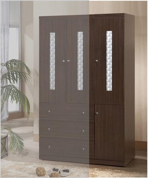【尚品傢俱】338-01 洛德 胡桃1.3*7尺開門衣櫃收納櫃
