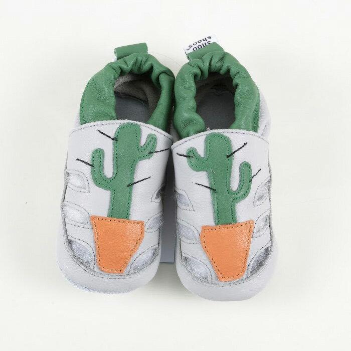 【HELLA 媽咪寶貝】英國 shooshoos 安全無毒真皮手工鞋/學步鞋/嬰兒鞋_仙人掌涼鞋_101054 (公司貨)