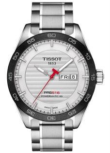 TISSOT天梭T1004301103100PRS516大三針機械腕錶白面42mm