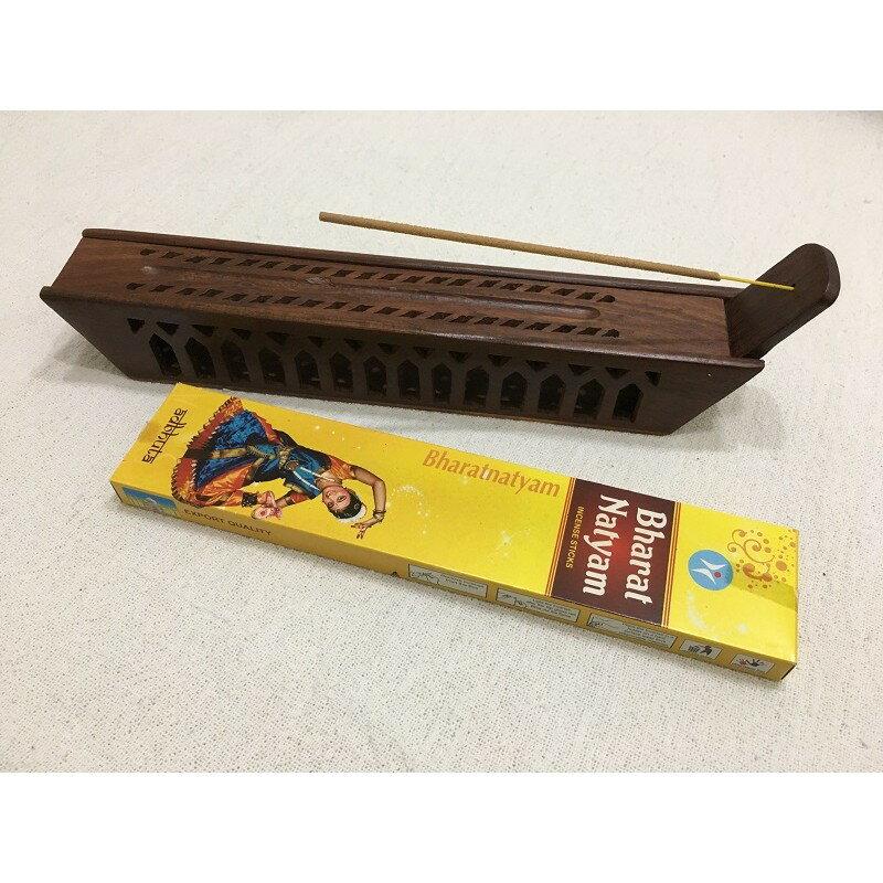 [綺異館] 印度線香盒 大香盒 木盒 點香盒 純手工可收納線香 點香 big wood box - boat