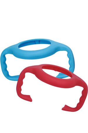PUKU藍色企鵝 - 寬口奶瓶把手 (藍/紅) 2