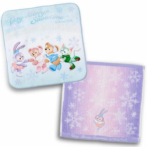 【真愛日本】17111700071純綿二入方巾組-聖誕滑雪CAH Duffy 達菲熊&ShellieMay 娃娃 冬季限定 日本帶回