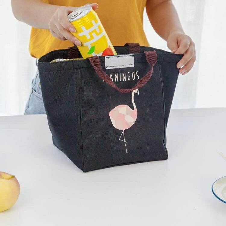 便當包 飯盒袋保溫袋便當袋帆布大號帶飯的手提袋手拎防水加厚鋁箔保溫包