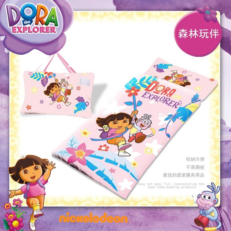 免運~冒險朵拉Dora鋪棉睡袋,尺寸:4*5尺,台灣製造正版卡通授權冬夏兩用舖綿睡袋多款,二用兒童小朋友幼兒睡袋