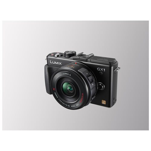 Panasonic Lumix DMC-GX1 16 MP Micro 4/3 Compact System Camera - 14-42mm Power Zoom Kit - Black 0