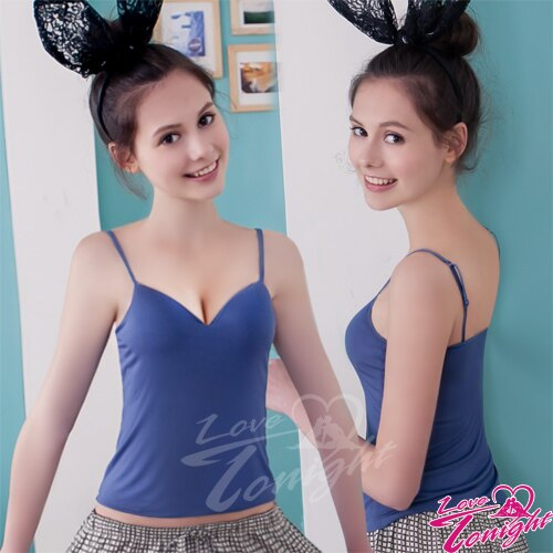 內衣胸罩運動內衣T-BRA背心上衣無痕隱形調整型無肩帶內衣運動衣-T3153-藍【情趣饗宴】