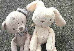 【現貨】mamas&papas 安撫陪伴乖乖兔 乖乖熊 絨毛玩具 絨毛玩偶 大尺寸 特殊設計不掉毛 防過敏 陪伴