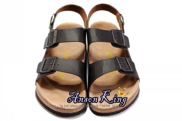 [Anson King]Outlet正品代購  birkenstock Milano系列 男女款 懶人涼拖鞋 黑色裂紋 0