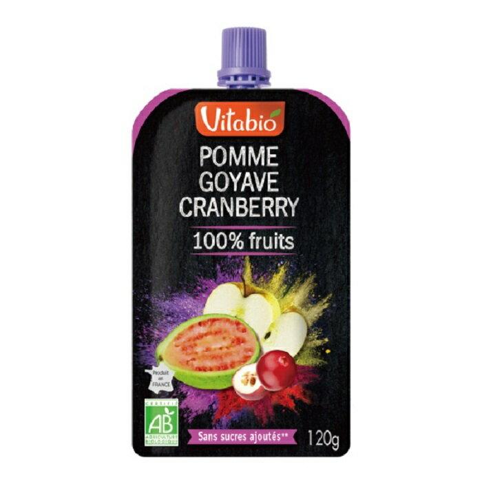 法國Vitabio 有機優鮮果PLUS-蘋果+紅心芭樂120G