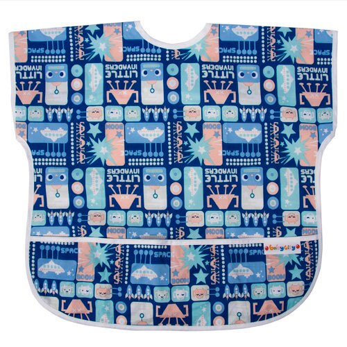 Baby City娃娃城 - 防水短袖圍兜(1-3A) 藍色機器人 0