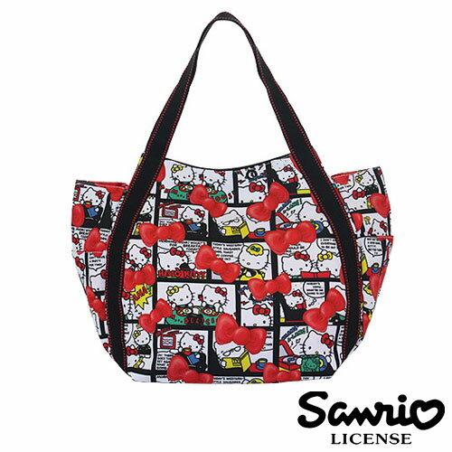 4041【日本正版】Hello Kitty X Dearisimo 帆布肩揹包 托特包 帆布包 手提袋 旅行袋 凱蒂貓 - 123411