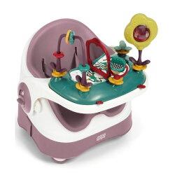 【陪你玩樂組合】英國 mamas & papas 三合一都可椅(附玩樂盤)-乾燥玫瑰/學習餐椅/兒童餐椅/攜帶