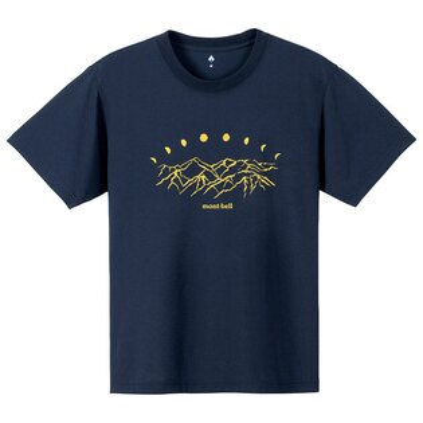 【mont-bell日本】WICKRON短袖排汗衣排汗T恤機能衣阿爾卑斯山男款海軍藍/1114248