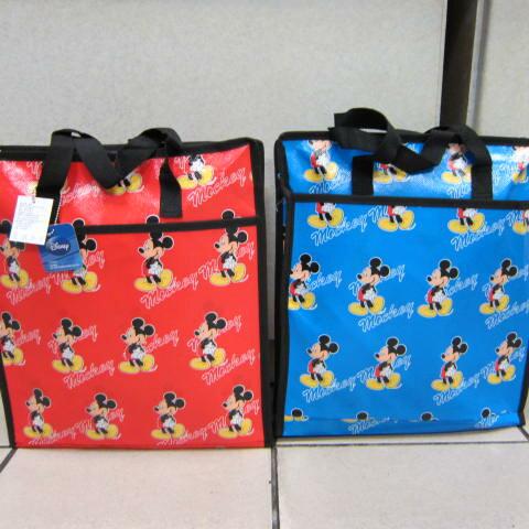 ~雪黛屋~小米奇直式學生袋 購物環保袋 PVC防水材質 多功能萬用袋 簡單手提袋 M1291-4
