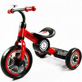 【淘氣寶寶】英國 Mini Cooper 兒童三輪車10吋-辣椒紅