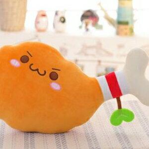 美麗大街【HB20160428】 創意新品毛絨玩具 雞腿抱枕(35cm)