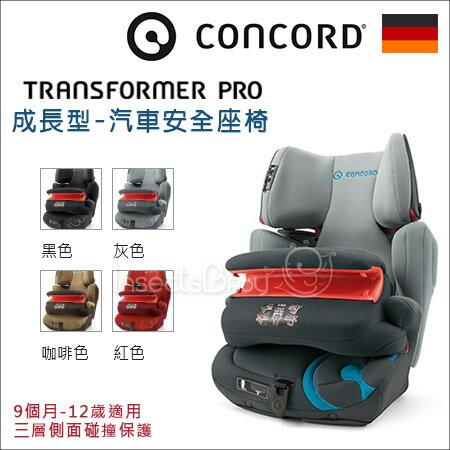 ?蟲寶寶?【德國CONCORD】成長型汽車安全座椅/汽座TRANSFORMER PRO/4色可選