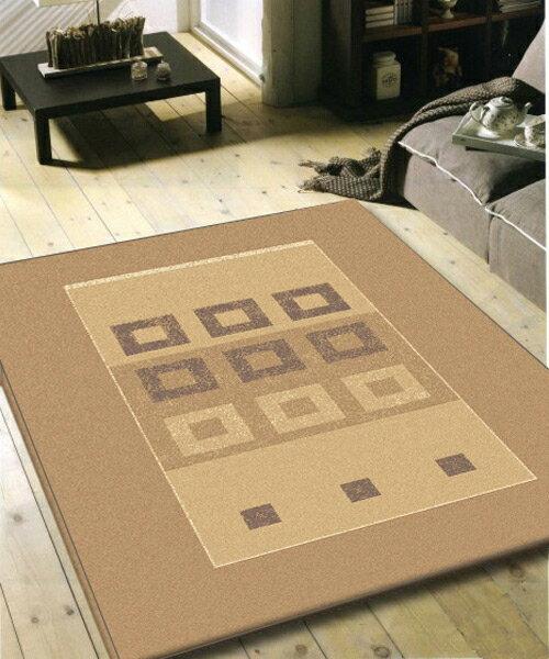 艾瑞簡約舒適仿羊毛地毯-格圈-160x230cm