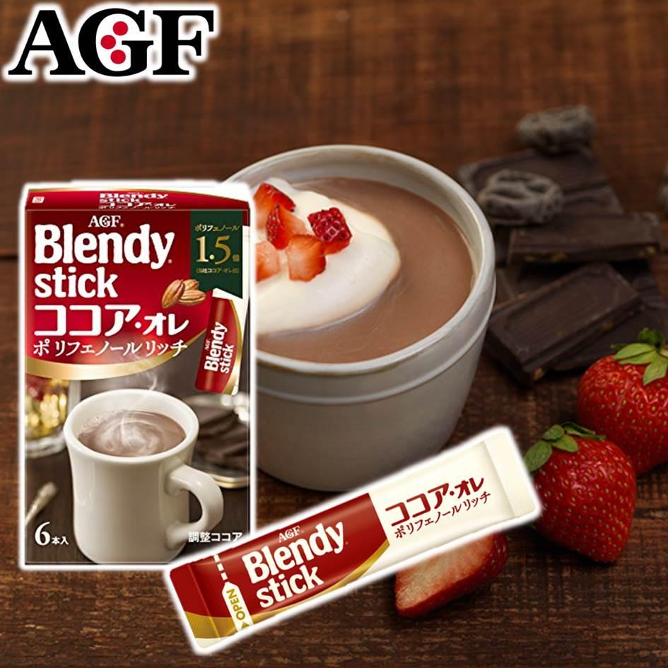 挑食屋PIKIYA 【AGF】Blendy stick可可歐蕾即溶沖泡粉 6本入 66g 日本進口沖泡 巧克力牛奶 隨手包