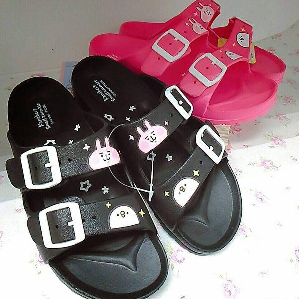 卡娜赫拉拖鞋室內拖海灘拖鞋沙灘拖黑桃與小雞005718