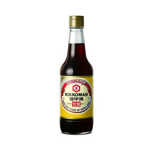 統一龜甲萬甘甜醬油玻璃瓶500ml【愛買】