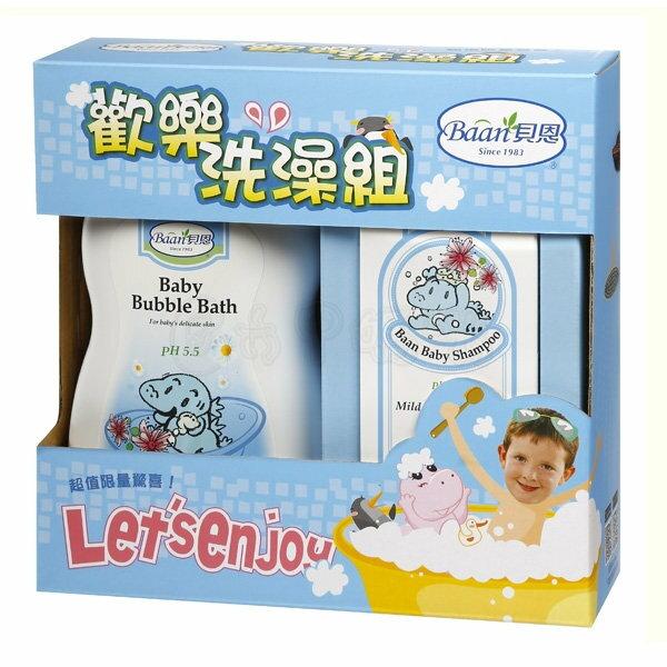 貝恩嬰兒泡泡香浴露1000ml + 嬰兒洗髮精200ml【六甲媽咪】