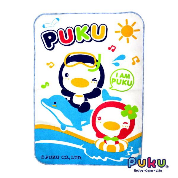 puku超柔嬰幼兒防濕尿墊(水藍)-55*80cm『121婦嬰用品館』