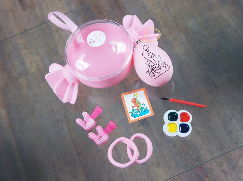 2202424兒童髮飾DIY彩繪蛋精緻糖果組合 增加寶貝的創作力 顏色隨機出貨