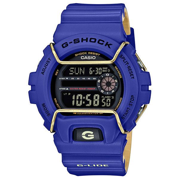 CASIOG-SHOCKGLS-6900-2AG-LIDE系列時尚運動腕錶藍紫50mm