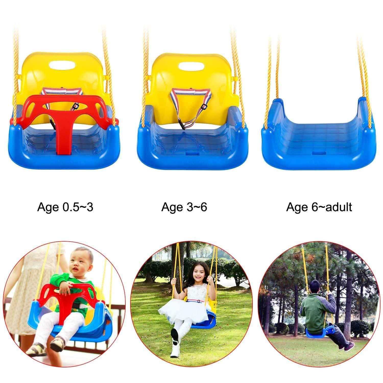 Finejo 3 In 1 Toddler Swing Seat Infants To Teens Detachable